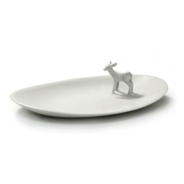 Small dish in porcelain Bambi