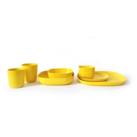 Yellow Gusto Dinner Plate by Ekobo