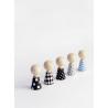Poupées en bois à habiller en bois Pebbles sur LaCorbeille.fr