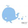 Tableau effaçable Pensette baleine bleue de la marque Le Pré d'eau sur LaCorbeille.fr