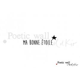 """Sticker """"Ma Bonne Etoile"""" de la Marque Poetic wall® sur LaCorbeille.fr"""