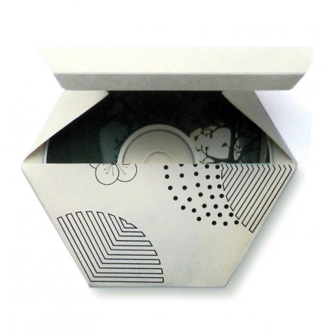 Range CD origami Alvéoles de Studio Lo sur LaCorbeille.fr