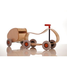 Child wood car and trailer / Max & Lorette