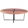 Table design chêne et métal laqué noir Sangle Ovale - Design Jocelyn Deris sur LaCorbeille.fr