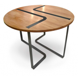 Table design Sangle ronde design Jocelyn Deris pour LaCorbeille.fr