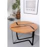 Table design chêne et noir Sangle ronde design Jocelyn Deris pour LaCorbeille.fr