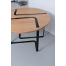 Table chêne et noir Sangle ronde design Jocelyn Deris pour LaCorbeille.fr