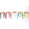 Tabourets design 5 couleurs au choix Canne en chêne sur LaCorbeille.fr