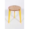 Tabouret design jaune et bois Canne en chêne sur LaCorbeille.fr