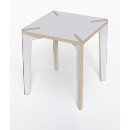 Table design grise contreplaqué de bouleau carrée Série x Design Benjamin Faure sur LaCorbelle.fr