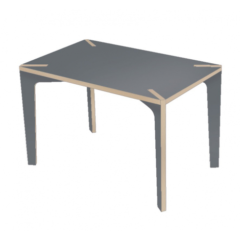 "Table / Bureau design gris ""Série X"" design Benjamin Faure sur LaCorbeille.fr"