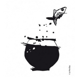 Sticker Poisson Volant Le Pré d'eau