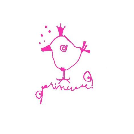 "Sticker ""Princesse"" in black"