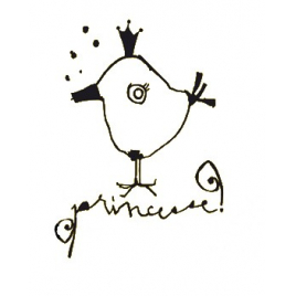 "Sticker ""Princesse"" in black"