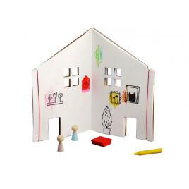 Cahier Maison de Poupée de la marque Rock & Pebbles sur LaCorbeille.fr