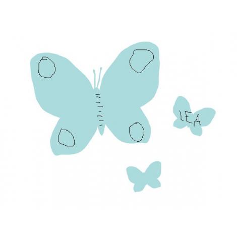 Tableau effaçable Pensette Papillon Menthe de la marque Le Pré d'eau sur LaCorbeille.fr