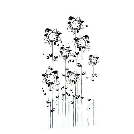 """Sticker """"La Chorale"""" du duo Mel et Kio pour la collection Les Murmures® sur LaCorbeille.fr"""