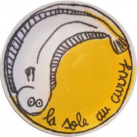 Assiette Recettes La Sole au Curry de 100DRINE sur LaCorbeille.fr