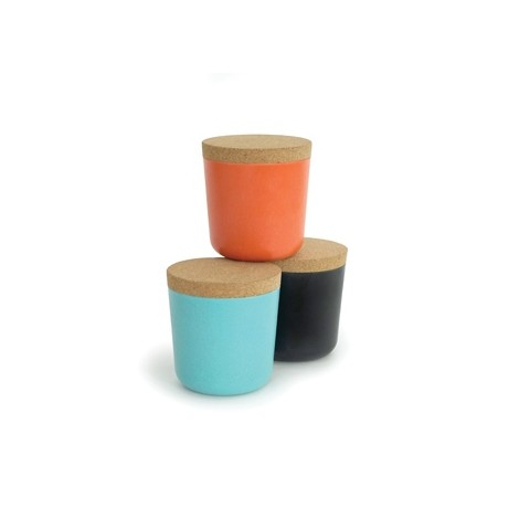 Set of 3 small storages with cork lid
