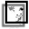 Sticker Cadre Ombre Petite Fille de la collection Poetic Wall par Mel et Kio sur LaCorbeille.fr