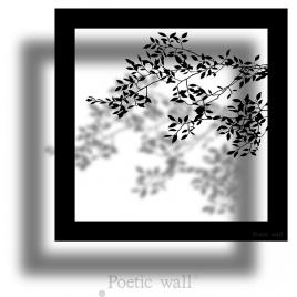 Sticker frame shadow Branch