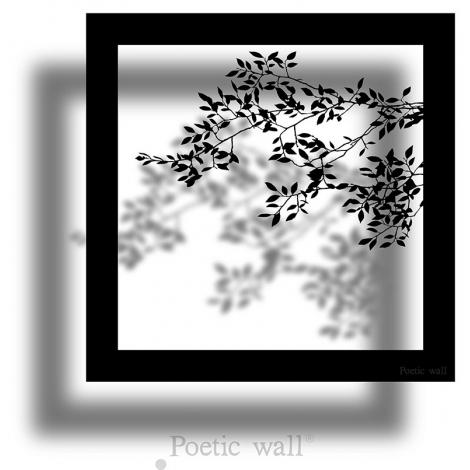 Sticker Cadre Ombre Branche de la collection Poeticwall du duo Mel et Kio sur LaCorbeille.fr