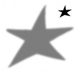 Sticker shadow Star