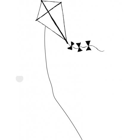 Sticker Cerf Volant de la collection Poetic wall par le duo Mel et Kio sur LaCorbeille.fr