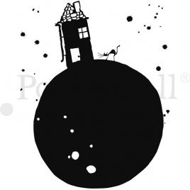 Sticker Planète Maison de la collection Poetic wall par le duo Mel et Kio sur LaCorbeille.fr