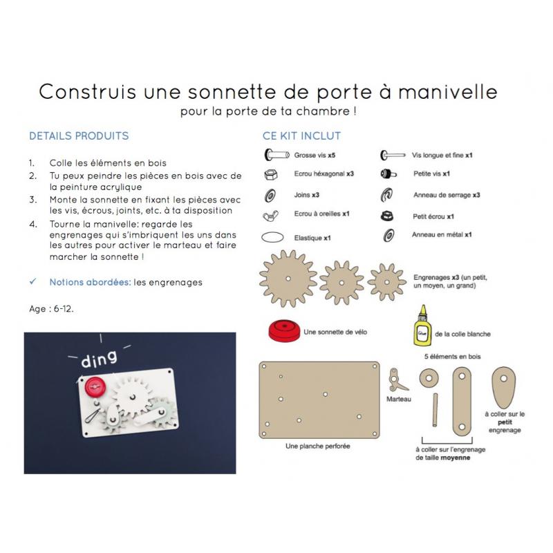 Kit de construction koa koa la sonnette lacorbeille fr - Installer une sonnette ...