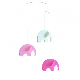 Olephants mobile Pastel