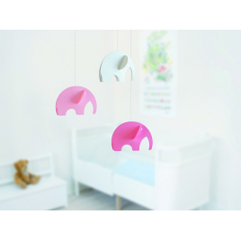Olephants mobile Pastel