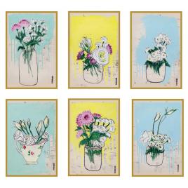 6 Cartes Postales 100DRINE Bouquets Lisbonne sur LaCorbeille.fr