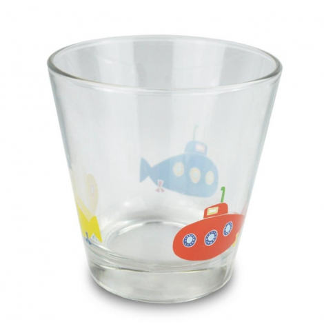 Verre Motif renard, hérisson, sous-marin ou crocodile design Make International sur LaCorbeille.fr