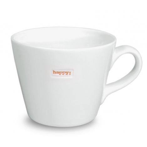 Mug with a word inlaid