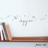 """Sticker Petites Ombres """"Où que je sois"""" de la collection Poetic wall sur LaCorbeille.fr"""