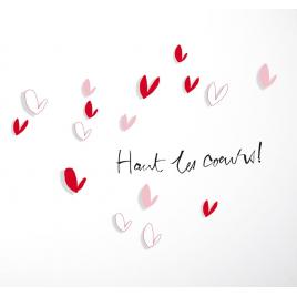 """Sticker Petites Ombres """"Haut les cœurs"""""""