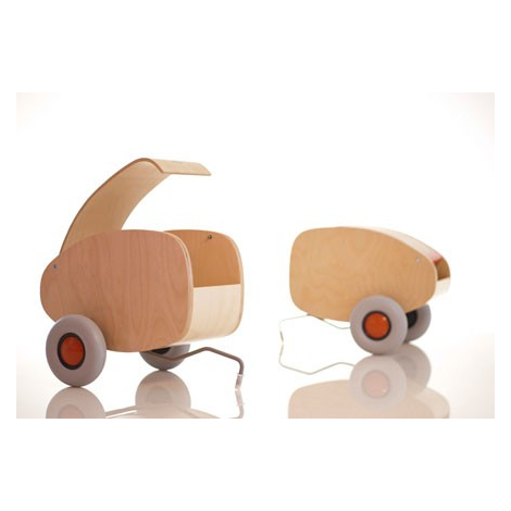 Child wood trailer Lorette