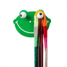 """Patère HOOKLYS : Froggy Frog / Sticker """"Grenouille"""""""