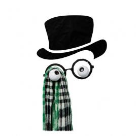 """Patère HOOKLYS : Mister Hookly / Sticker """"Professeur"""""""