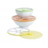 Couvercle en silicone hermétique empilable citron de la marque Charles Viancin sur LaCorbeille.fr