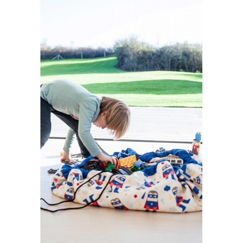 sac tapis de jeu super h ros lacorbeille fr. Black Bedroom Furniture Sets. Home Design Ideas