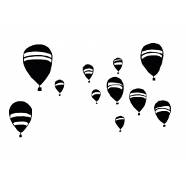 """Sticker """"All the hot air balloons"""""""