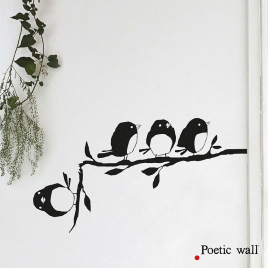 Sticker Un de trop de la collection Poetic Wall 2017 sur LaCorbeille.fr