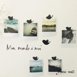 Set de stickers Mon Monde à Moi de la collection Poetic Wall 2017 sur LaCorbeille.fr