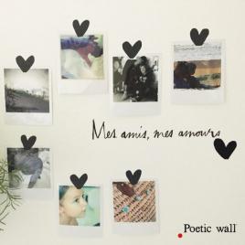 Set de stickers Mes amis mes amours de la collection Poetic Wall 2017 sur LaCorbeille.fr