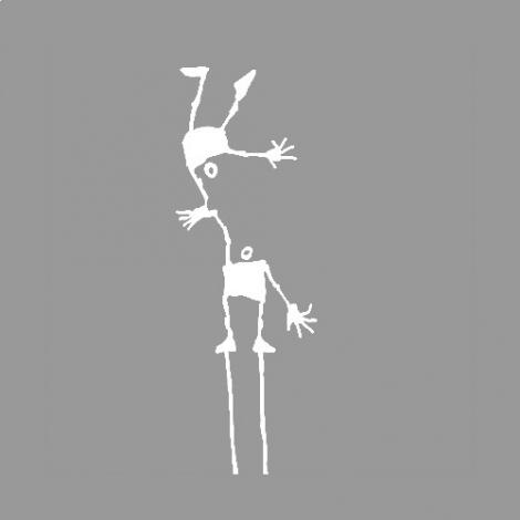 Stickers Les Tout Là Haut : the Acrobats in white