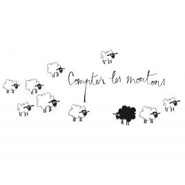 "Sticker ""Compter les Moutons"""