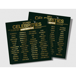 Drink Identifiers stickers Celebrities