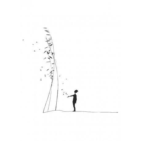 """Sticker Petit Murmure """"L'Homme qui sème"""" du duo Mel et Kio - Collection Les Petits Murmures sur LaCorbeille.fr"""